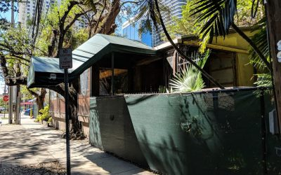 DEMOLITION ABOUT TO BEGIN AT FORMER PERRICONE'S IN BRICKELL AFTER PERMIT ISSUED
