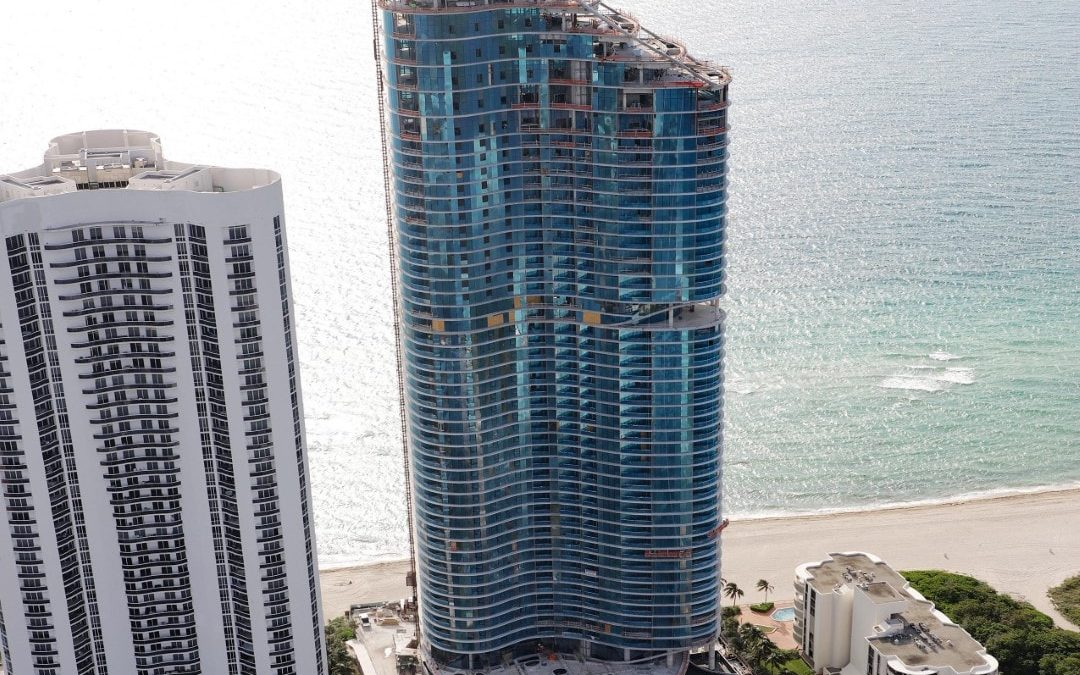 CONSTRUCTION PROGRESS AT RITZ CARLTON RESIDENCES SUNNY ISLES, WHERE ANOTHER PENTHOUSE JUST SOLD FOR $20M