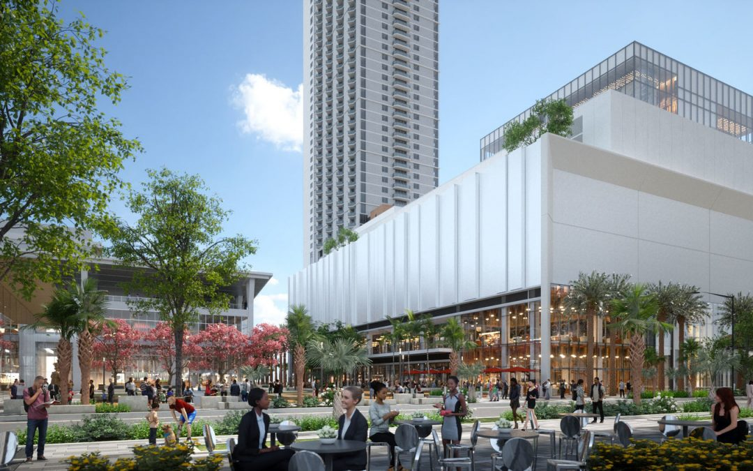 CONSTRUCTION UNDERWAY ON MIAMI WORLDCENTER RETAIL BUILDING AT BLOCK H