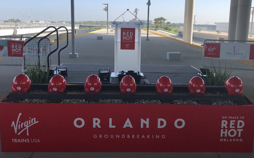 IT'S OFFICIALLY UNDERWAY: VIRGIN TRAINS HOLDS GROUNDBREAKING CEREMONY FOR MIAMI-ORLANDO HIGH SPEED RAIL