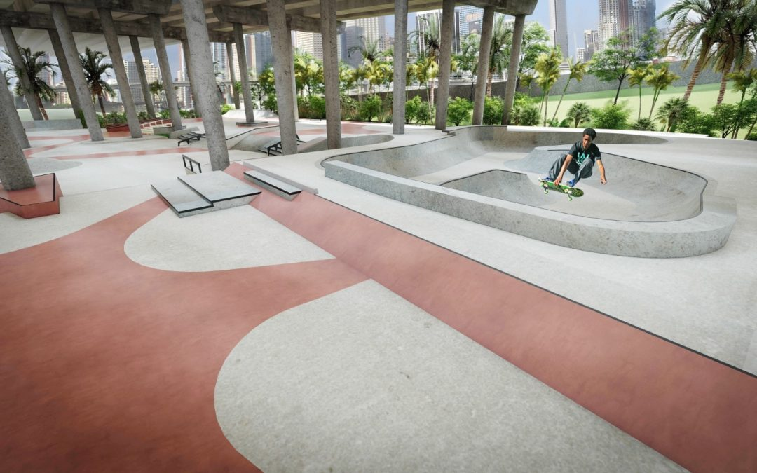 MIAMI'S FIRST EVER 'SKATE PLAZA' IS NOW UNDER CONSTRUCTION DOWNTOWN