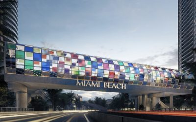 THE ENTRANCE TO SOUTH BEACH WILL SOON HAVE THIS COLORFUL PEDESTRIAN BRIDGE DESIGNED BY A FRENCH ARTIST
