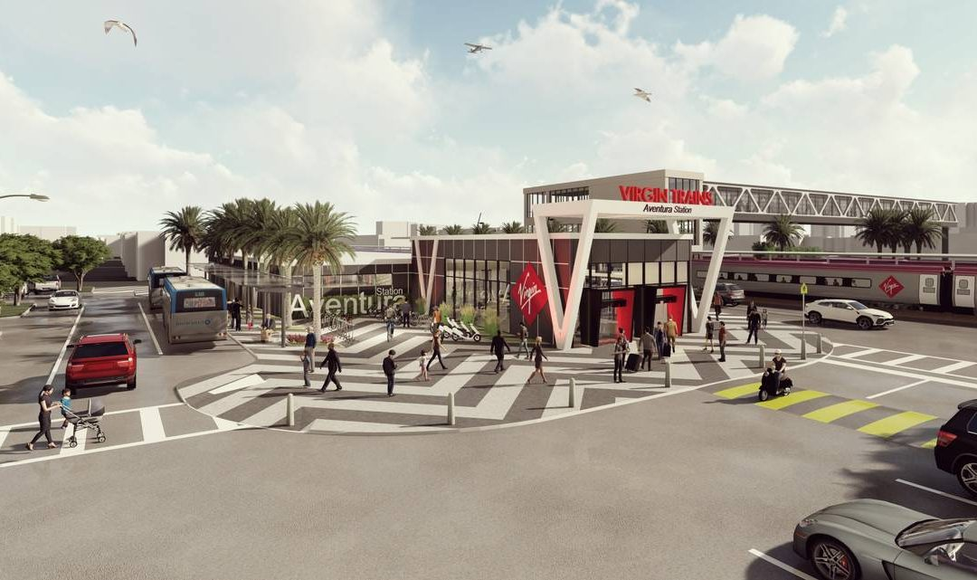 VIRGIN TRAIN STATION CONNECTED BY BRIDGE TO AVENTURA MALL SET TO OPEN BY NEXT YEAR