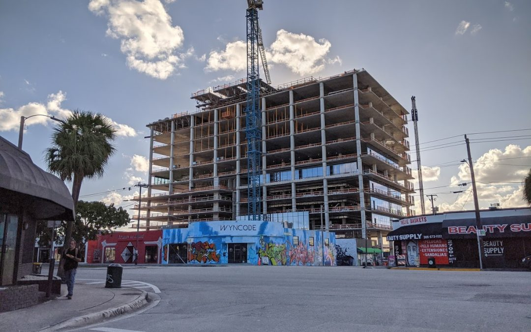PHOTOS: FIRST GLASS INSTALLED AT 545WYN OFFICE BUILDING IN WYNWOOD, WHERE ARCHITECT GENSLER WILL RELOCATE