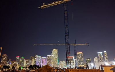 ROYAL CARIBBEAN'S GLOBAL HQ AT PORTMIAMI NOW RISING WITH THREE TOWER CRANES INSTALLED, WILL OFFER BREATHTAKING VIEWS OF MIAMI'S SKYLINE