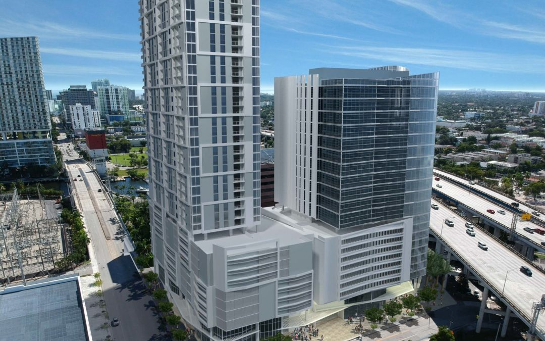 RIVERSIDE CENTER APPROVED BY UDRB, WITH TWIN TOWERS OF OFFICE & RESIDENTIA