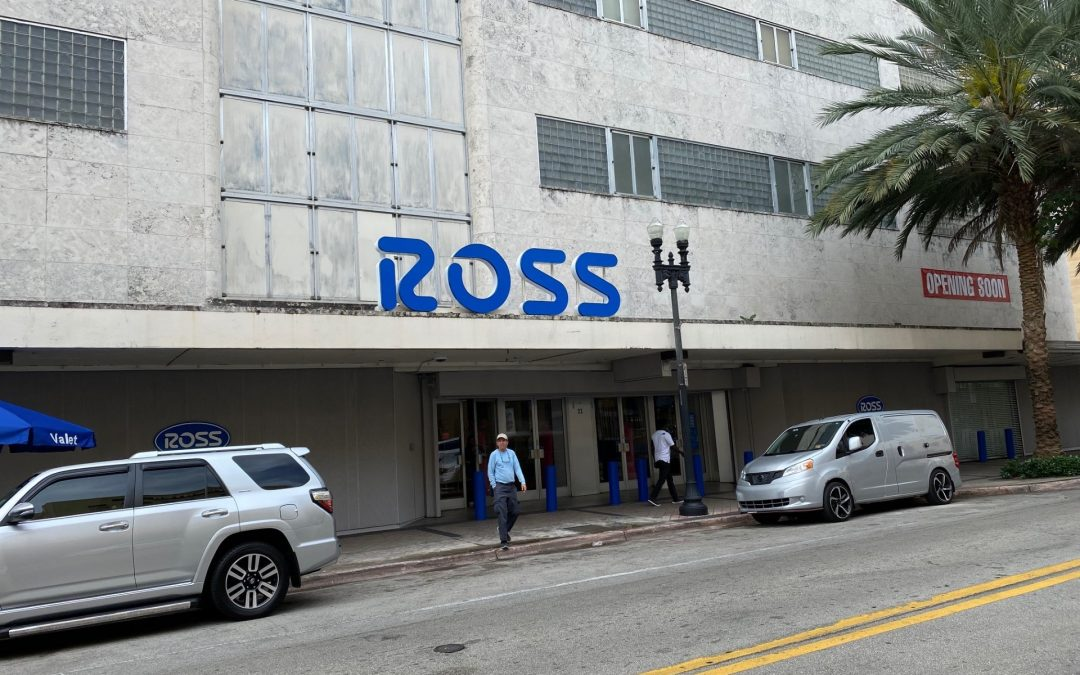 PHOTOS: ROSS SIGNAGE GOES UP AT DOWNTOWN MIAMI'S HISTORIC BURDINES BUILDING